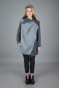 Креативное пальто. Наряд-плетенка
