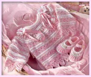 Бело-розовые башмачки